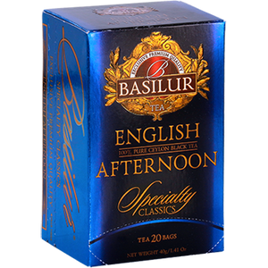 Basilur Specialty Classic English Afternoon Ceylon Tea, 20 Count Tea Bags