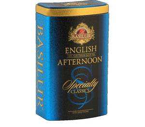 Basilur Specialty Classic English Afternoon Ceylon Tea Tin Caddy, Loose Tea 100g