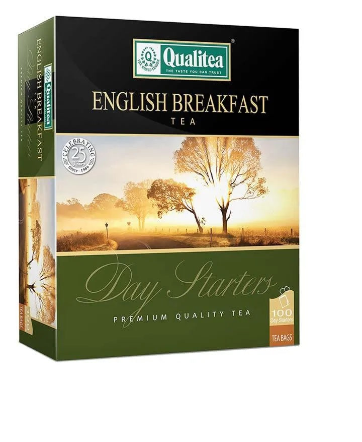 Qualitea English Breakfast Ceylon Tea, 100 Count Tea Bags