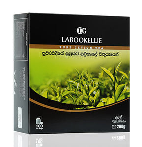 DG Labookellie Pure Ceylon Black Tea, 100 Count Tea Bags
