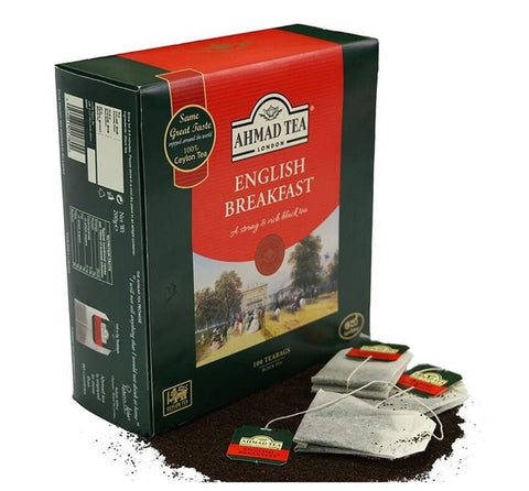 Ahmad Ceylon English Breakfast Tea, 100 Count Tea Bags