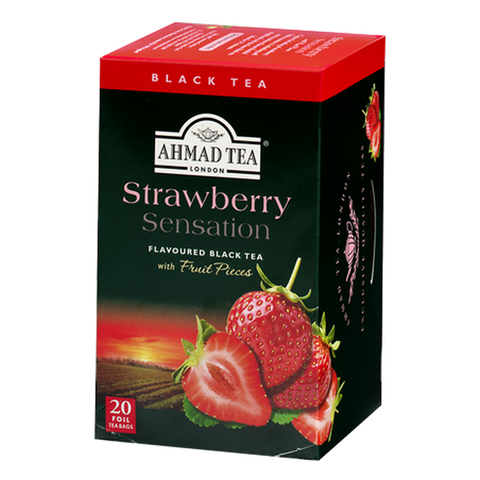 Ahmad Strawberry Sensation Tea, 20 Count Tea Bags