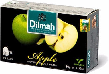 Dilmah Apple Flavoured Ceylon Black Tea, 20 Count Tea Bags