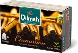 Dilmah Cinnamon Flavoured Ceylon Black Tea, 20 Count Tea Bags