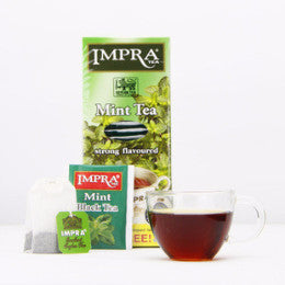 Impra Mint Flavoured Ceylon Black Tea, 25 Count Tea Bags