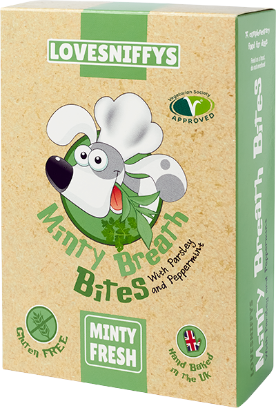 LOVESNIFFYS Minty Breath Bites 100g for Dogs - LOVESNIFFYS