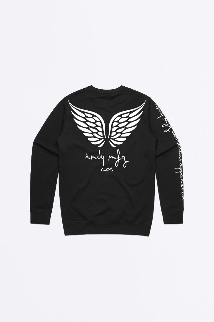 Womens Angel Crew Sweater Black