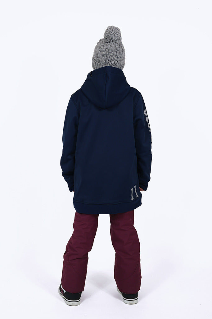 Indyslopestyle Girls Coco Midnight Tech Snowboard Hoodie Back