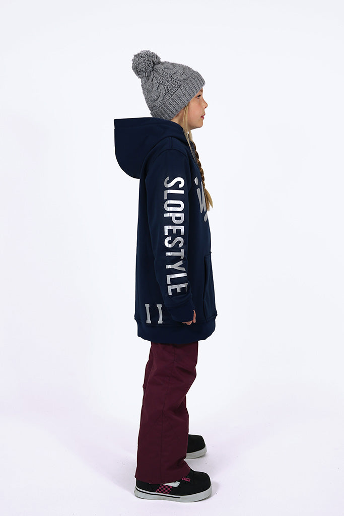 Indyslopestyle Girls Coco Midnight Tech Snowboard Hoodie Side 3