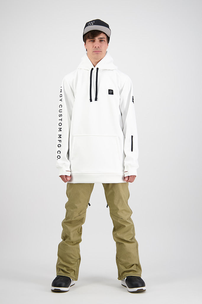 Mens 2020 NEXT GEN Battalion 10K Tech Snowboard Hoodie - WHITE