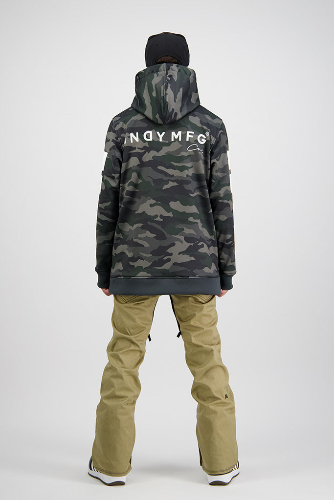 Mens 2020 NEXT GEN Throw Down 10K Tech Snowboard Hoodie - CAMO