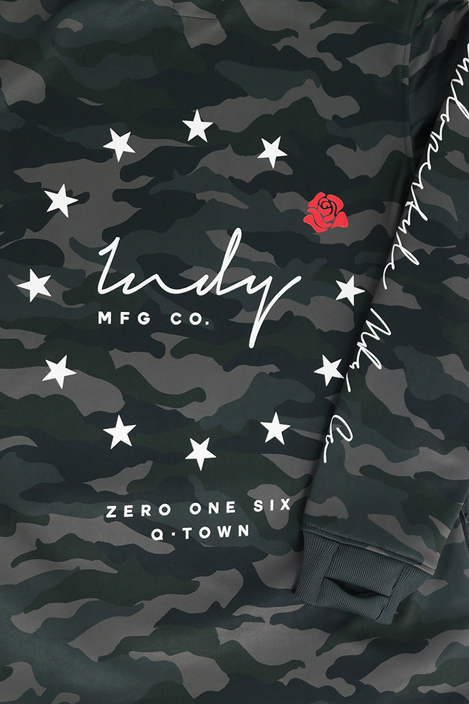 Indyslopestyle Womens Legion Tech Snowboard Hoodie Print