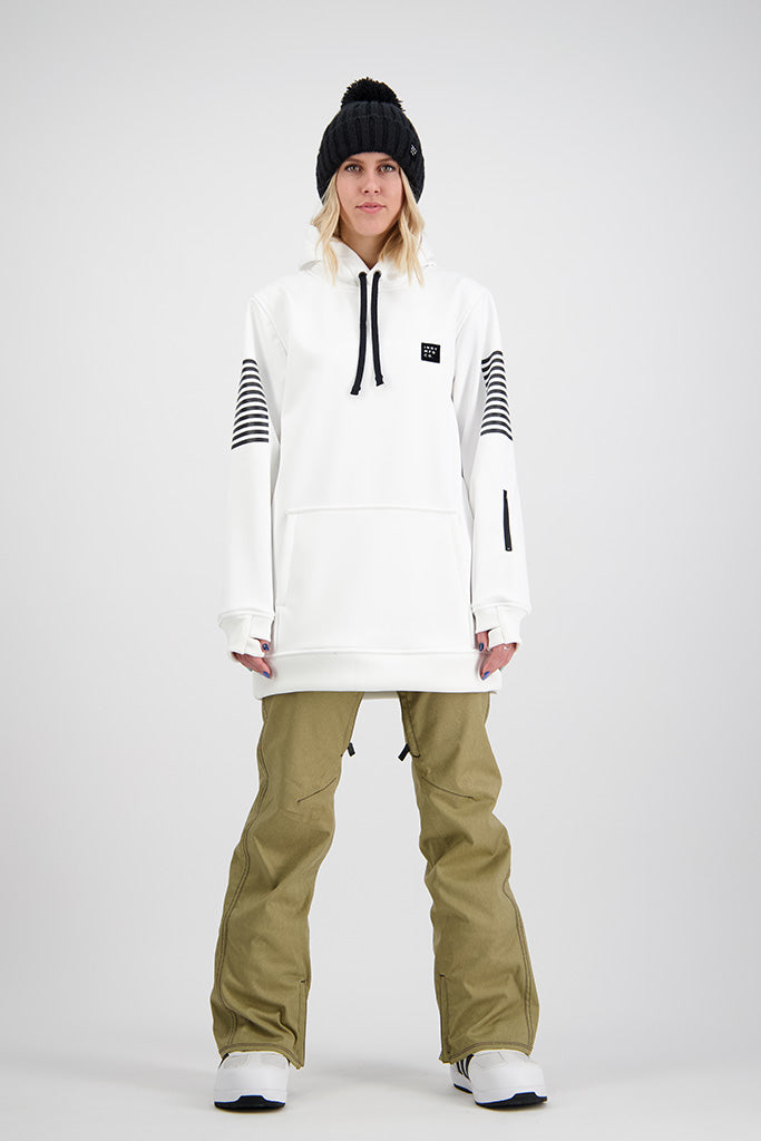 Womens 2020 NEXT GEN Script 10K Tech Snowboard Hoodie - WHITE