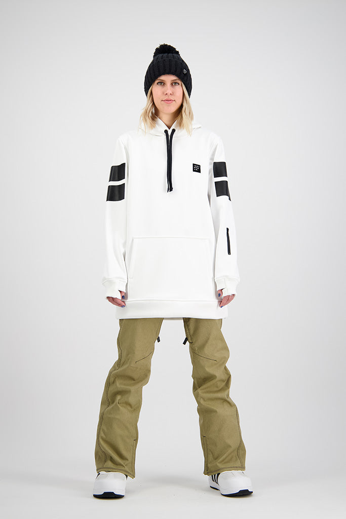 Womens 2020 NEXT GEN Throw Down 10K Tech Snowboard Hoodie - WHITE
