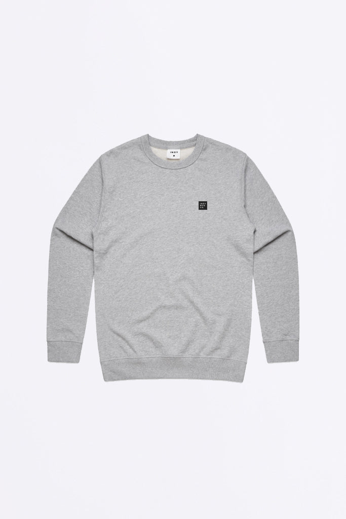 Mens Signature Crew Sweater Grey Marle