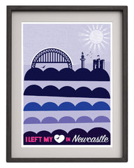 I left my Heart in Newcastle - vintage blues - Art Prints