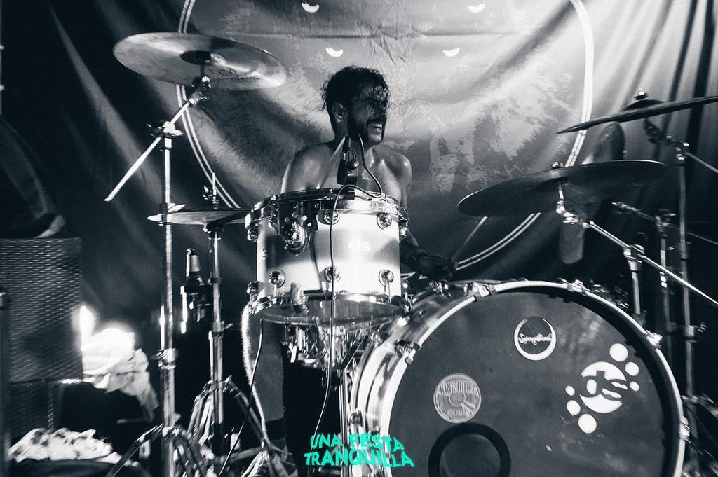 drummer from king howl on stage cagliari italia