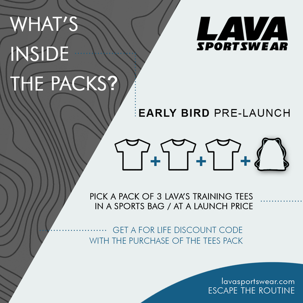 Lava Sportswear Pre Launch t-shirts at a launch price