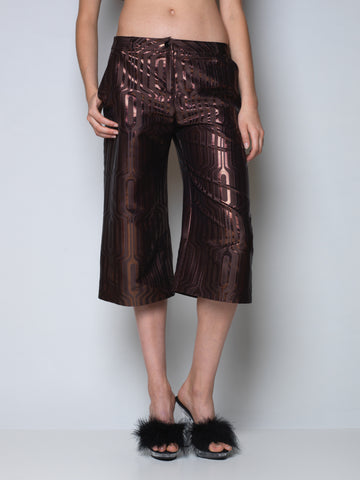 culottes in metallic bronze