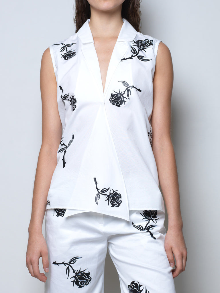 shirt with rose print