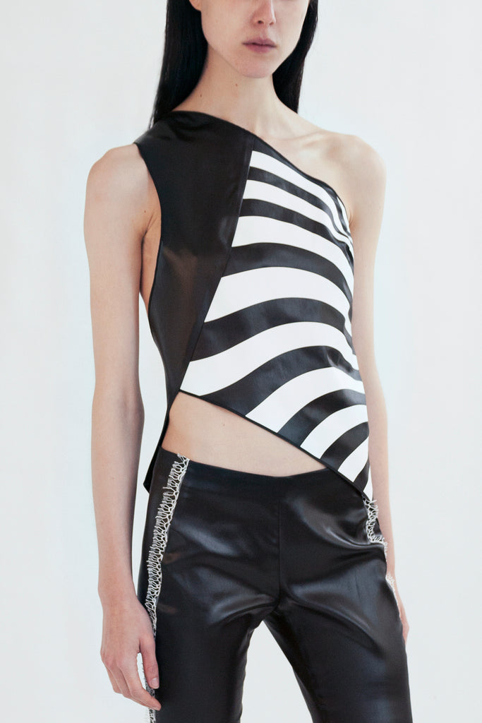 asymmetric top in liquid acetate with optical print