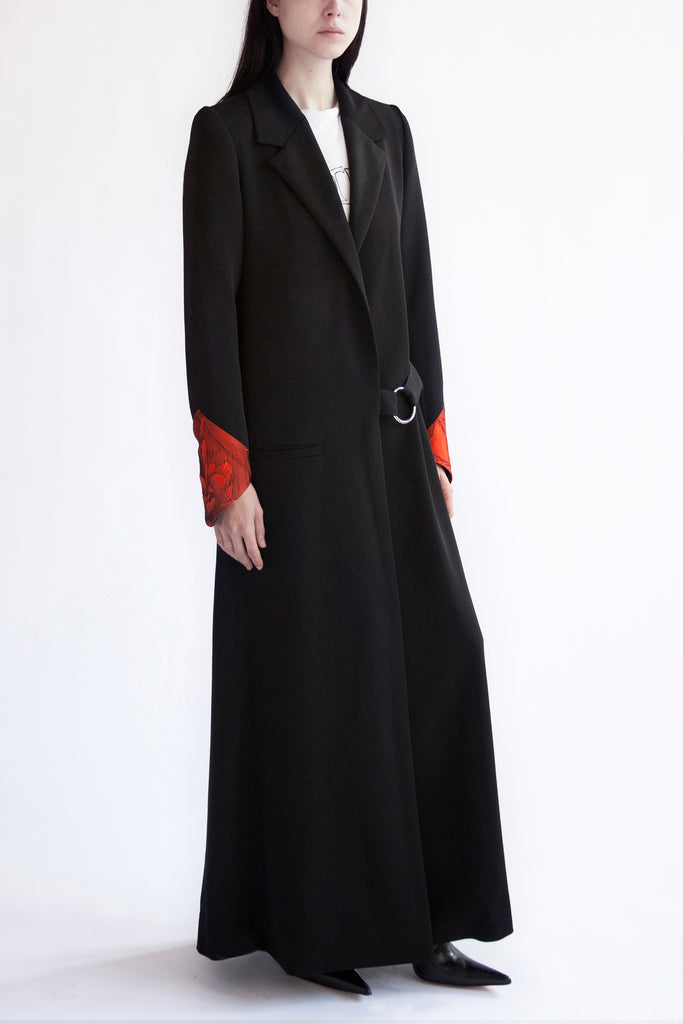 tailored coat 'bonnie raven'  floor length