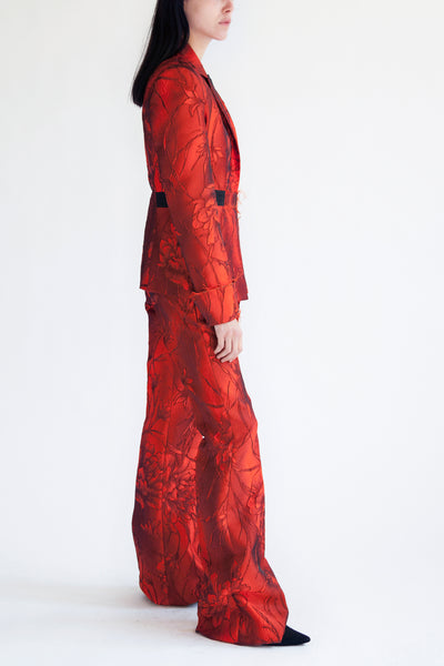 tailored suit combo in lava flower jacquard (jacket+ pants)