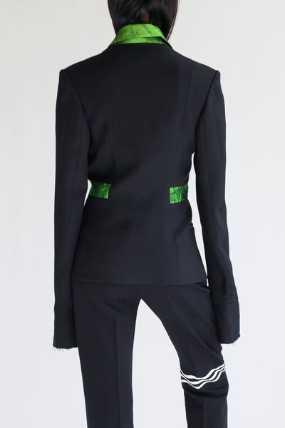 tailored suit jacket with acid lapel
