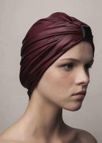 turban in oxblood acetate