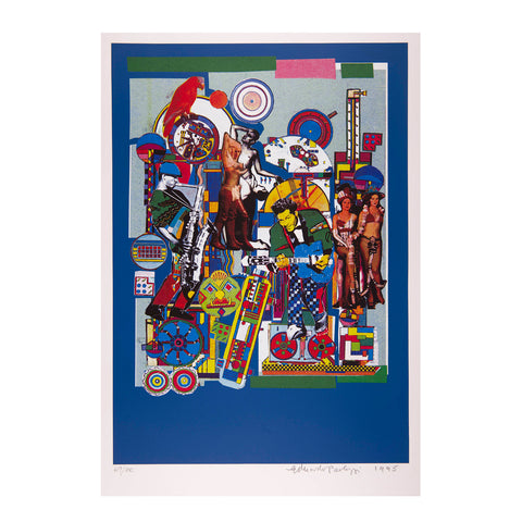 Paolozzi Soho Jazz Festival screen print, 1995