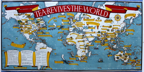 The poster maps of macdonald gill twentieth century posters another gem is tea revives the world 1940 a storehouse of fascinating information about our national drink gumiabroncs Choice Image