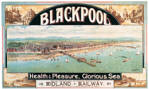 Blackpool poster, 1890