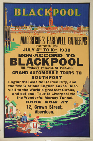 Blackpool poster, 1938