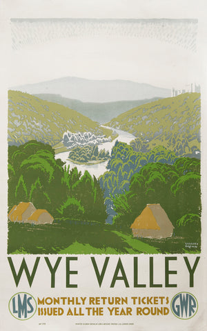 Wye Valley, Gregory Brown, GWR, c.1935