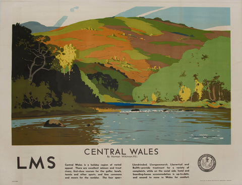 Norman Wilkinson, Central Wales poster
