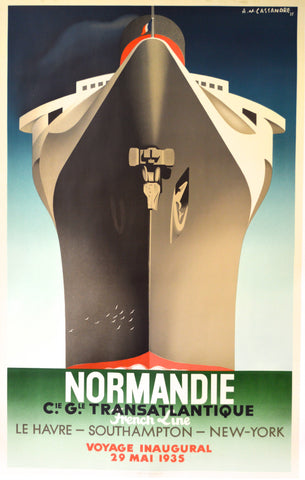 AM Cassandre, Normandy poster, 1935