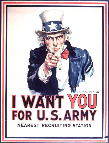 Montgomery Flagg, I Want YOU for US Army, 1917