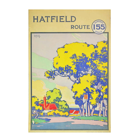 Hatfield London Underground poster by Gregory Brown 1941