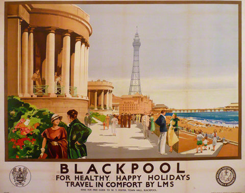 Blackpool poster, Claude Buckle, 1930