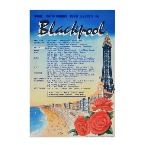 Blackpool poster, 1968