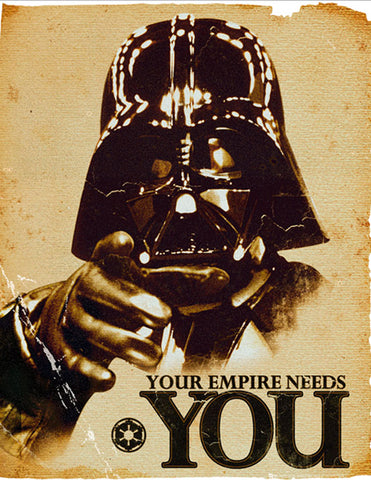 Dearth Vader paradoy of Your Country Needs YOU. c.2010