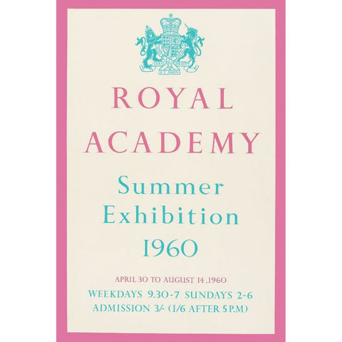 RA Summer Exhibition poster, 1960