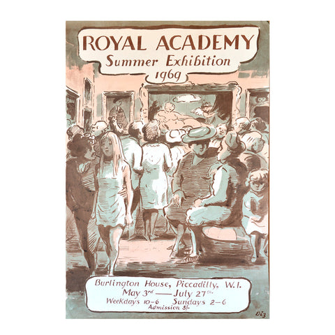 Royal Academy Summer Exhibition poster, 1969