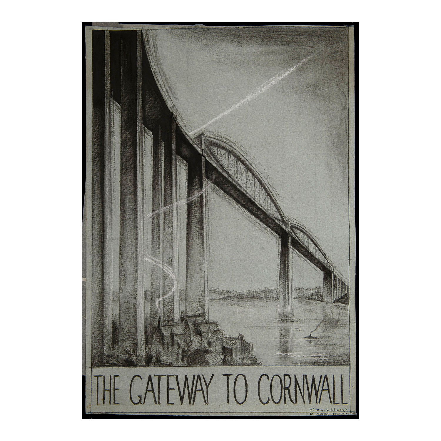 Original proposed railway poster artwork The Gateway to Cornwall