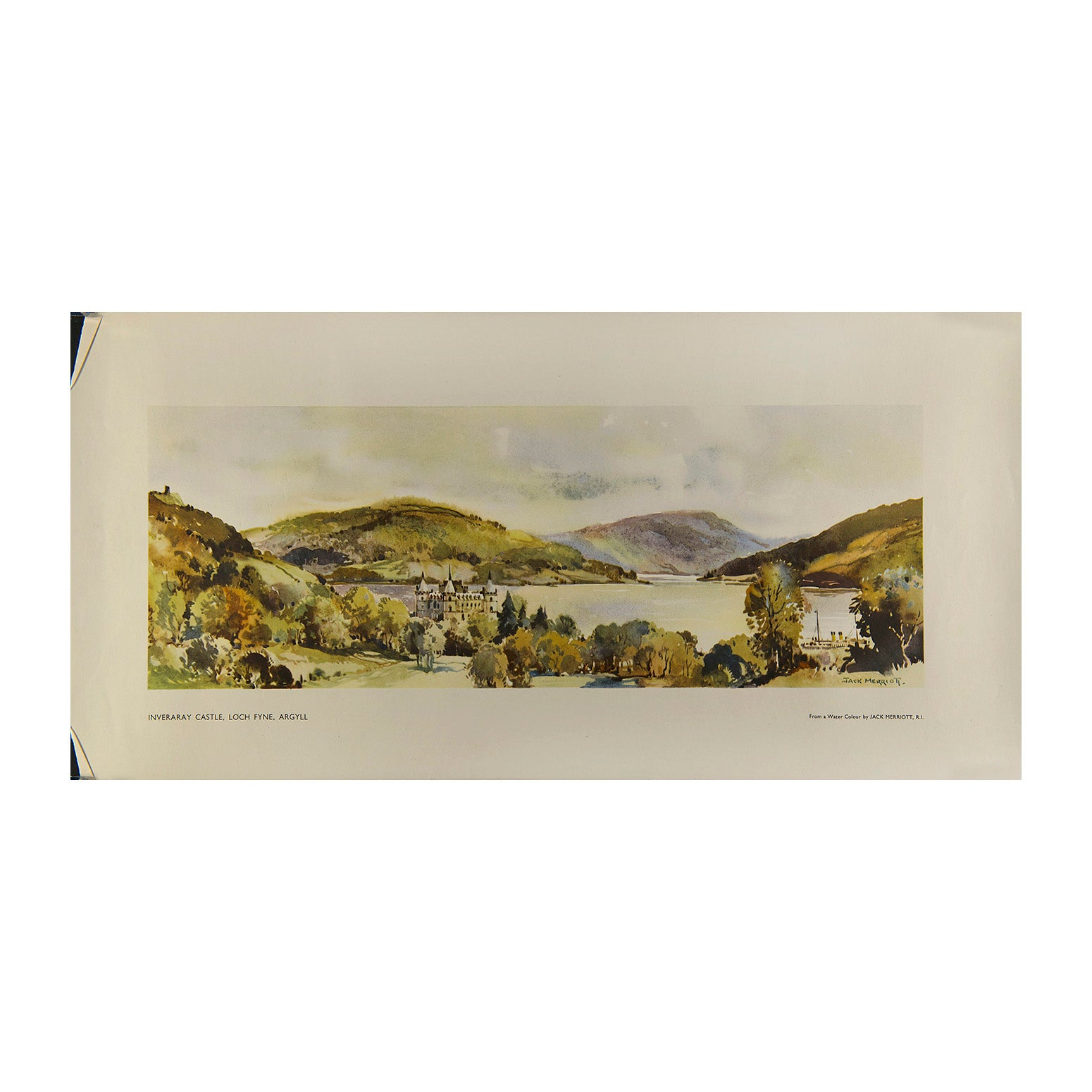 Inveraray Castle, Loch Fynne (railway carriage print)