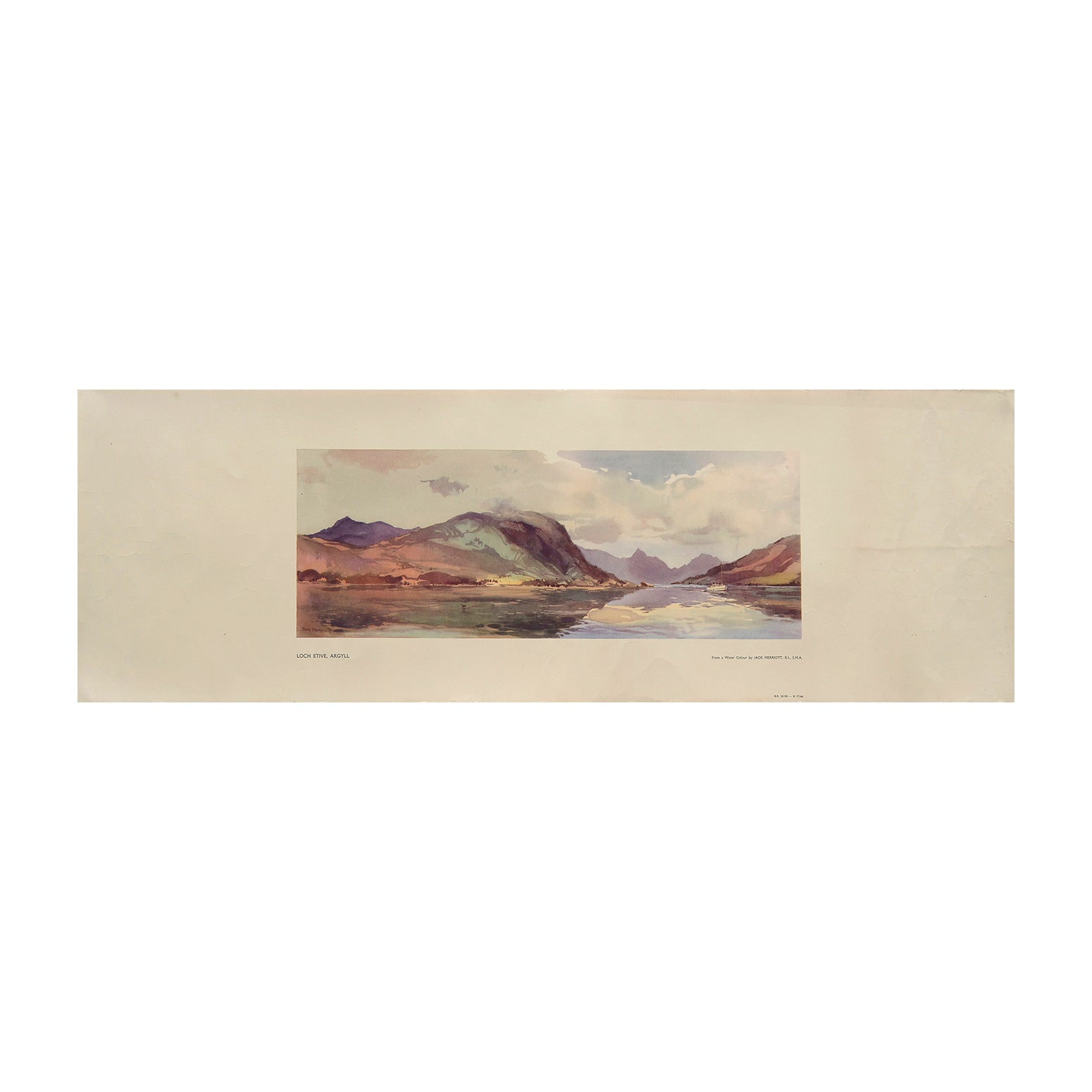 Loch Etive (railway carriage print)