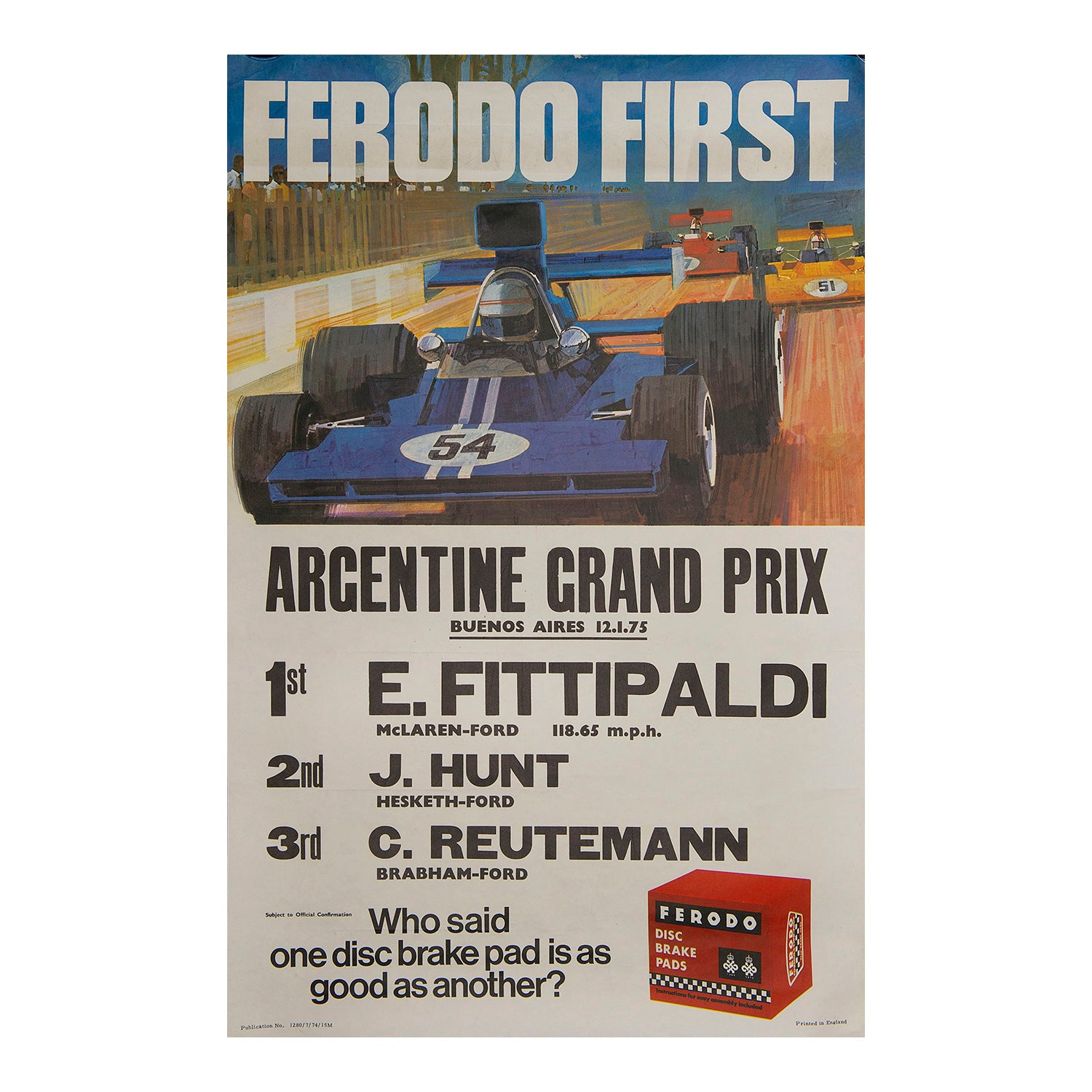Ferodo First. Argentine Grand Prix, 1975