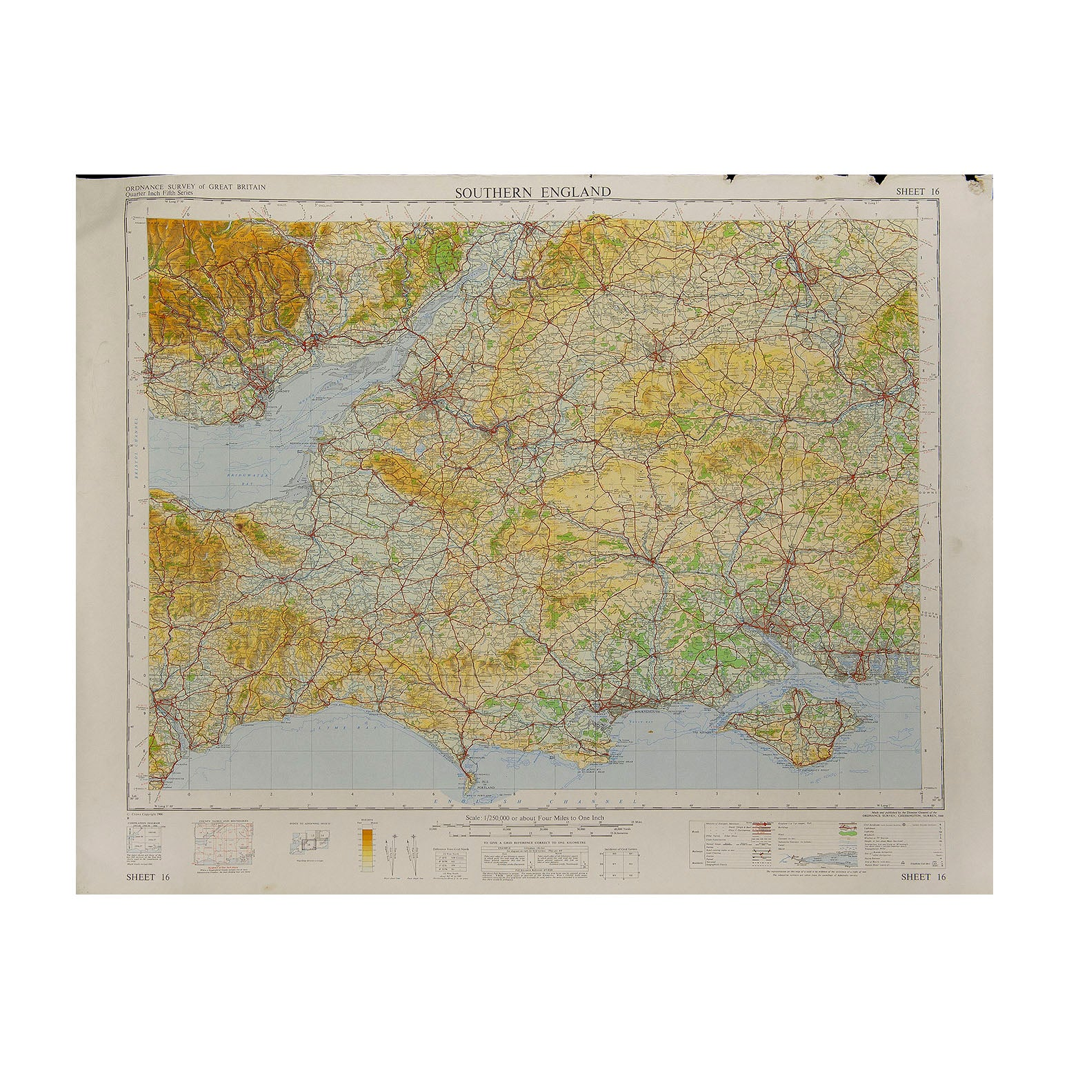 Southern England Ordnance Survey map