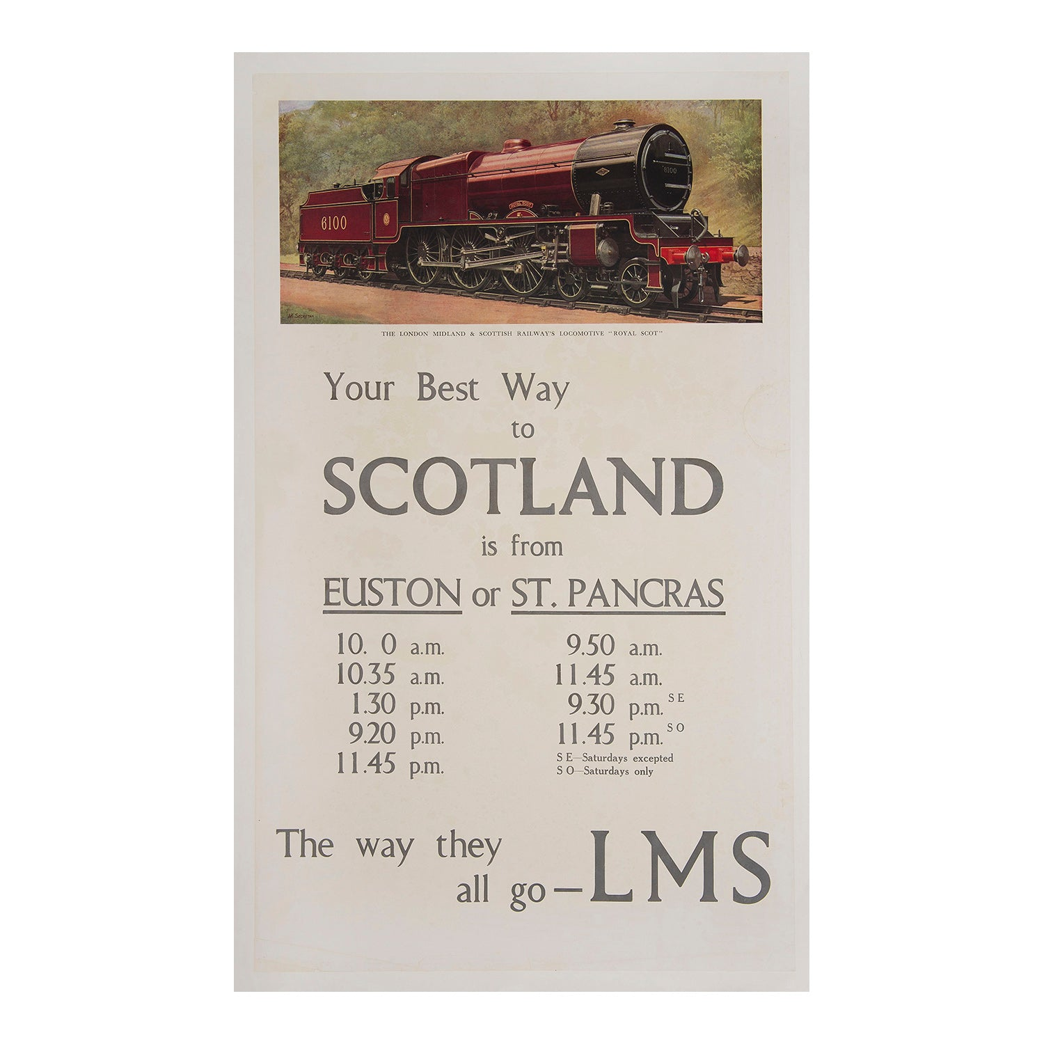 Your best way to Scotland is from Euston or St Pancras