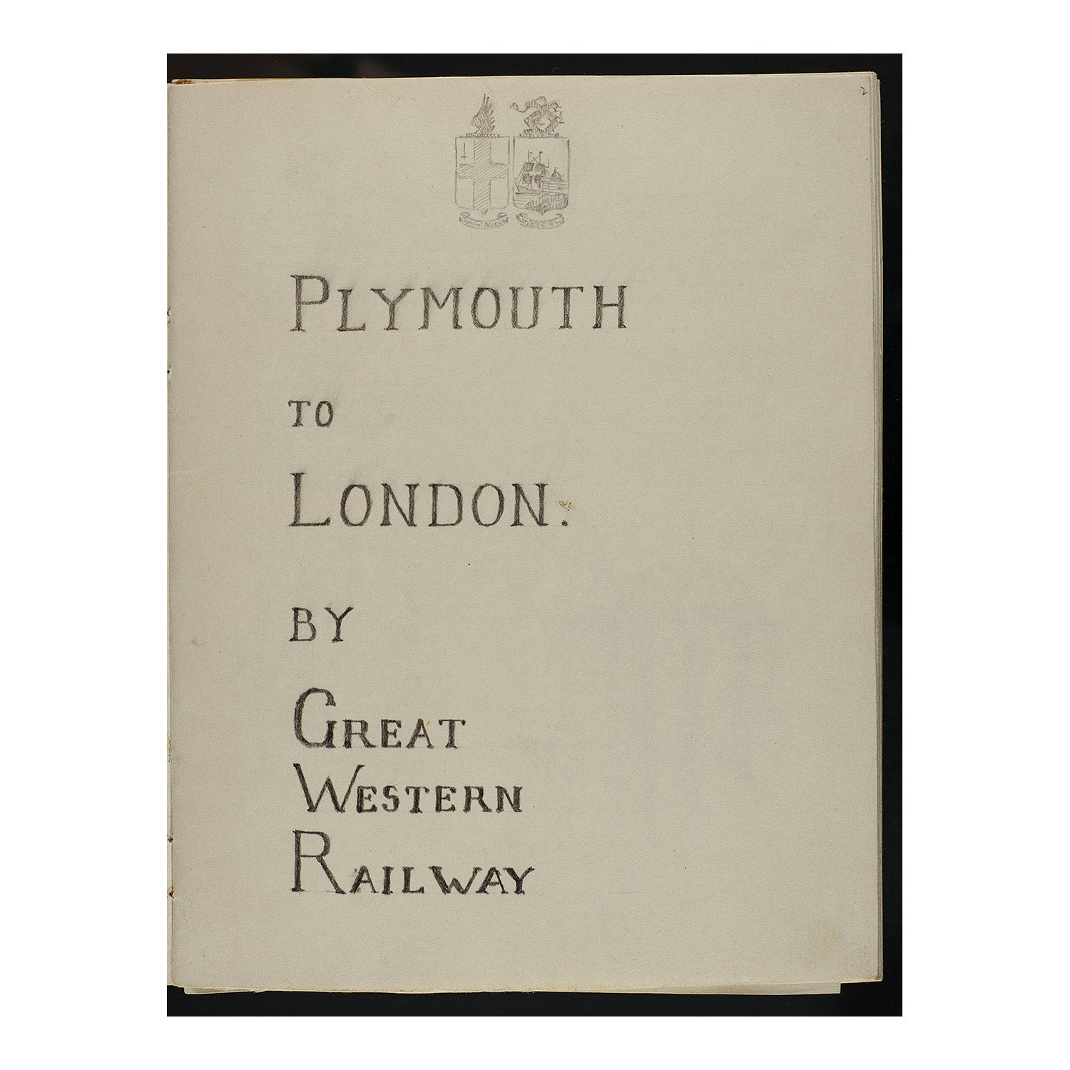 Original Great Western Railway artwork mock-up of 'Plymouth' publication